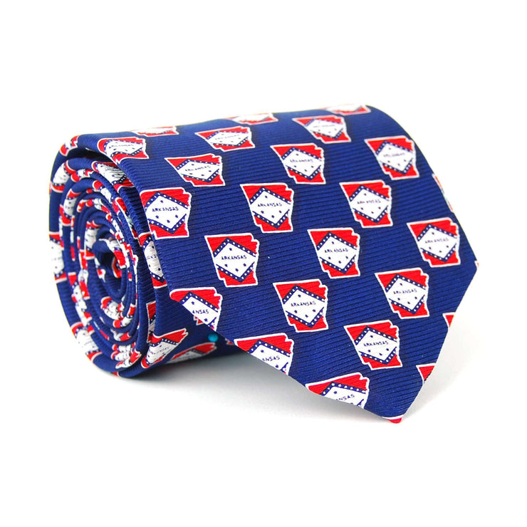 Southern Proper - Arkansas Traditional Tie: Navy