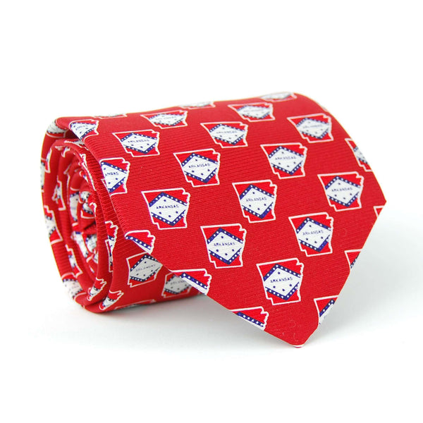 Southern Proper - Arkansas Traditional Tie: Red