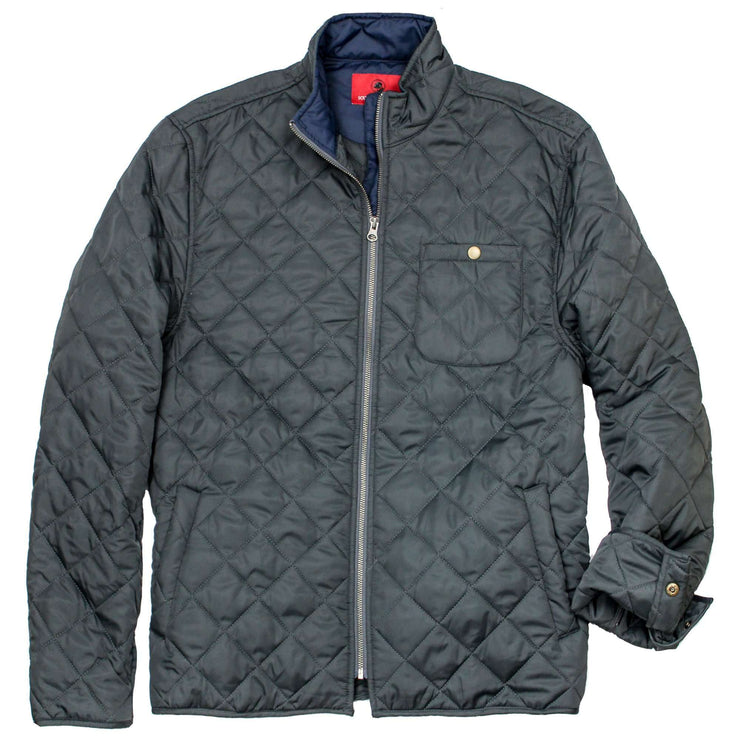 Southern Proper - Ashport Quilted Jacket: Charcoal