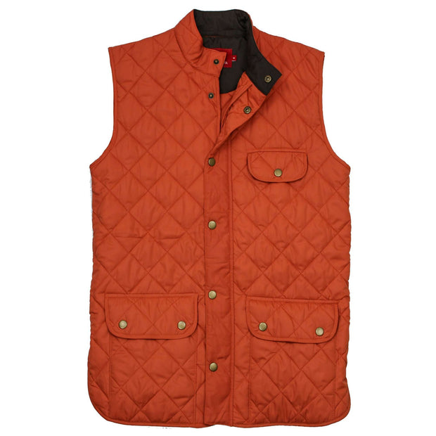 Southern Proper - Ashport Quilted Vest: Maple