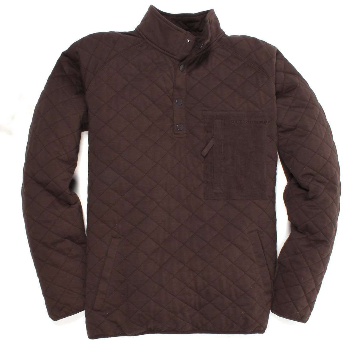 Barrett Quilted Pullover: Bark