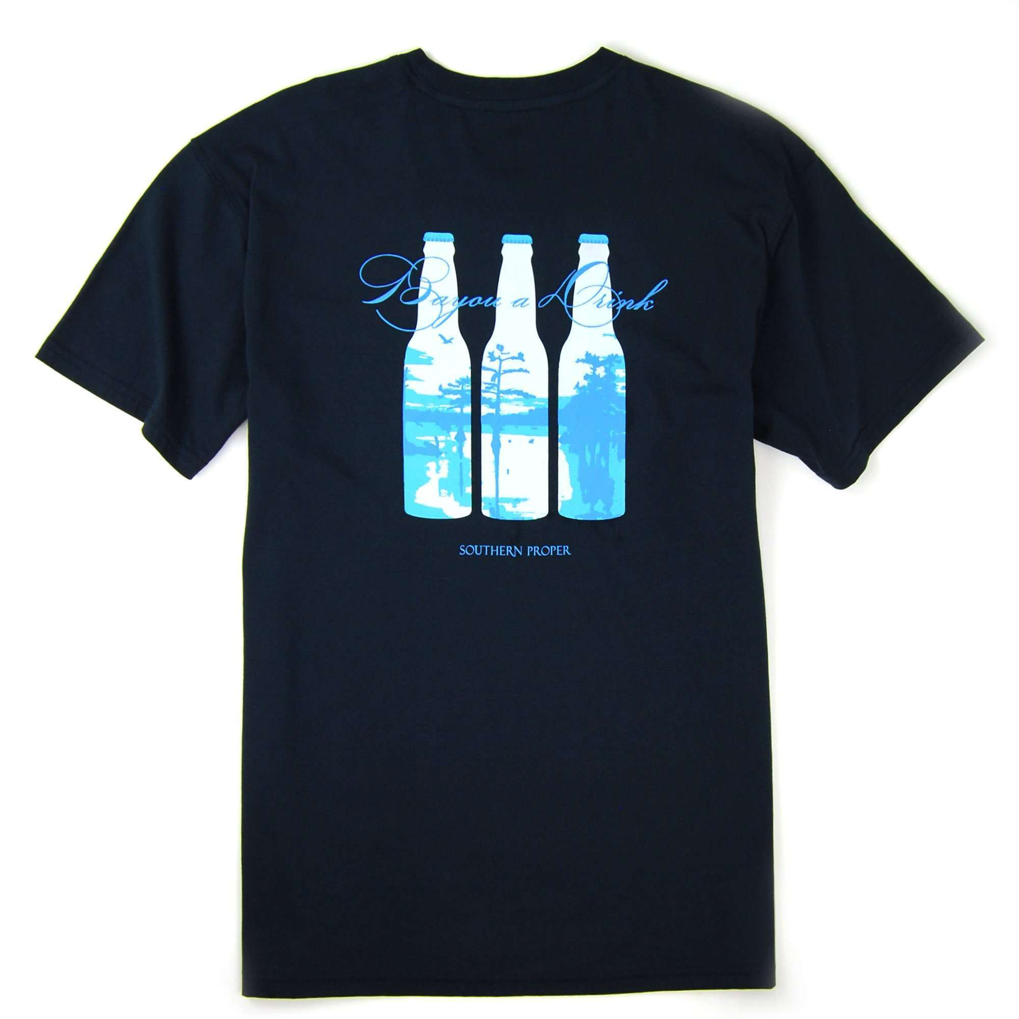 Bayou a Drink Tee: Blueberry