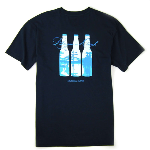 Southern Proper - Bayou a Drink Tee: Blueberry