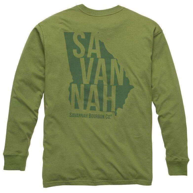 Bourbon State Long Sleeve Tee: Cedar