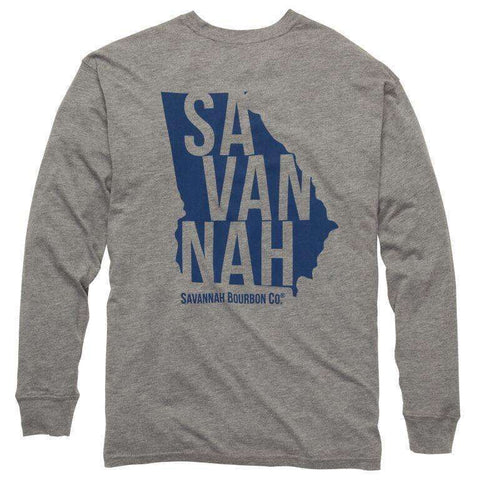 Southern Proper - Bourbon State Long Sleeve Tee: Heather Grey