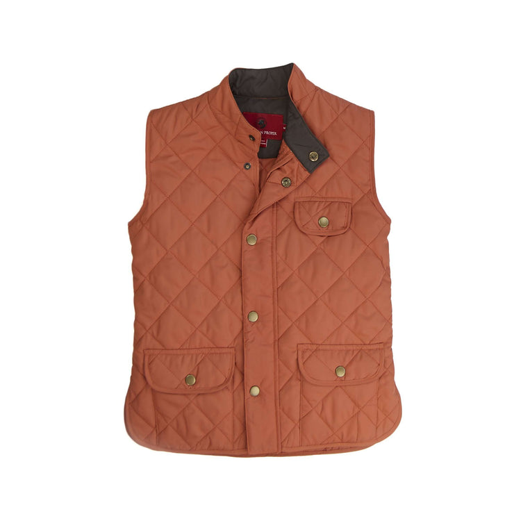 Southern Proper - Boys - Ashport Quilted Vest: Maple