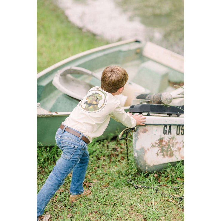 Southern Proper - Boys - Camo Lab Long Sleeve Tee: Grits