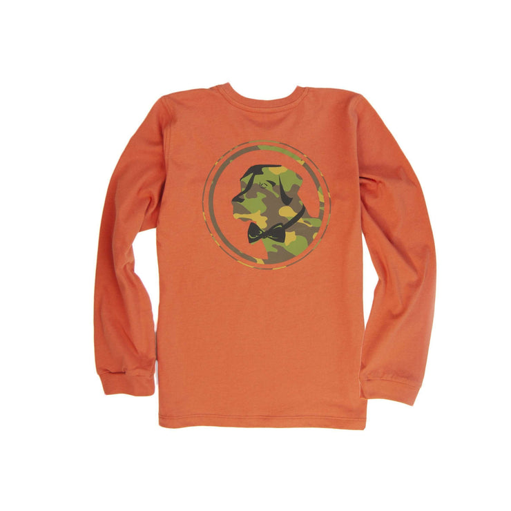Southern Proper - Boys - Camo Lab Long Sleeve Tee: Maple