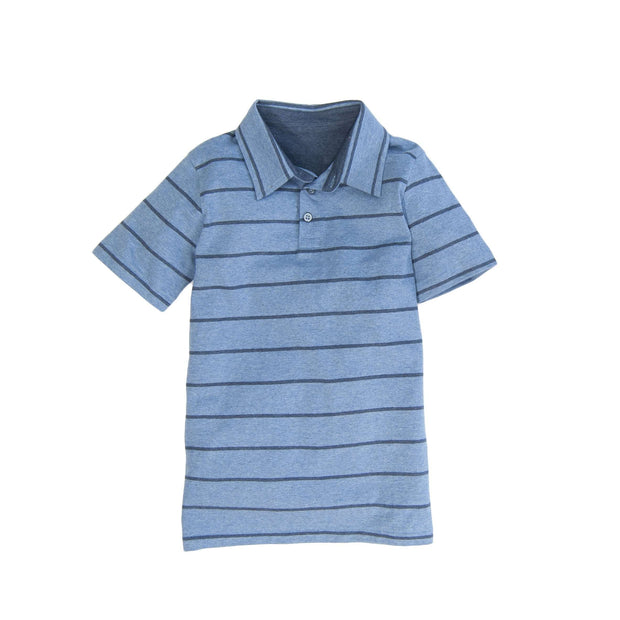 Southern Proper - Boys - Covington Polo: Denim Stripe