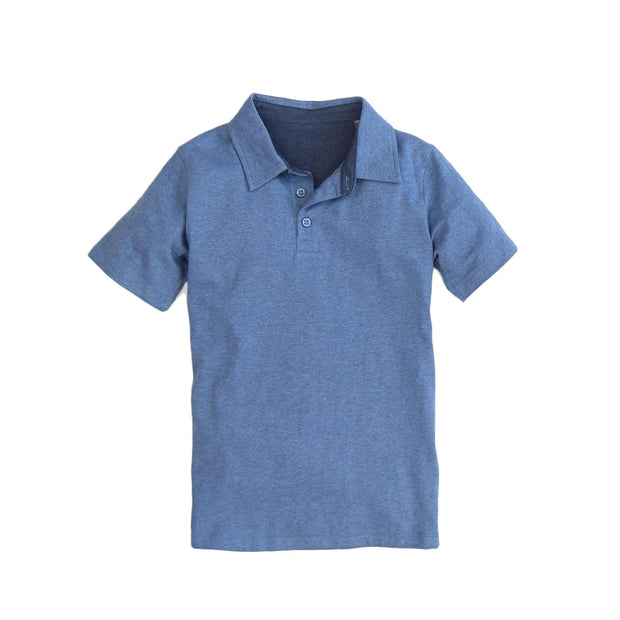 Southern Proper - Boys - Covington Polo: Heather Denim