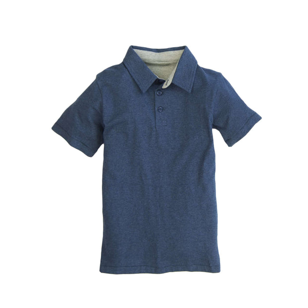 Southern Proper - Boys - Covington Polo: Heather Proper Navy