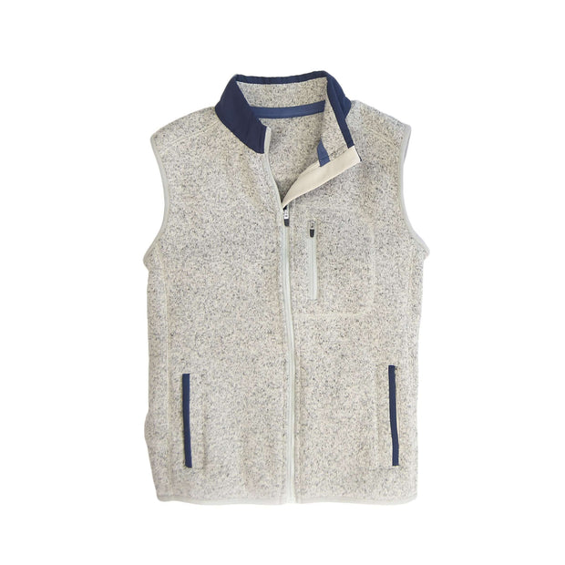 Southern Proper - Boys - Field Fleece Vest: Heather Proper Grey
