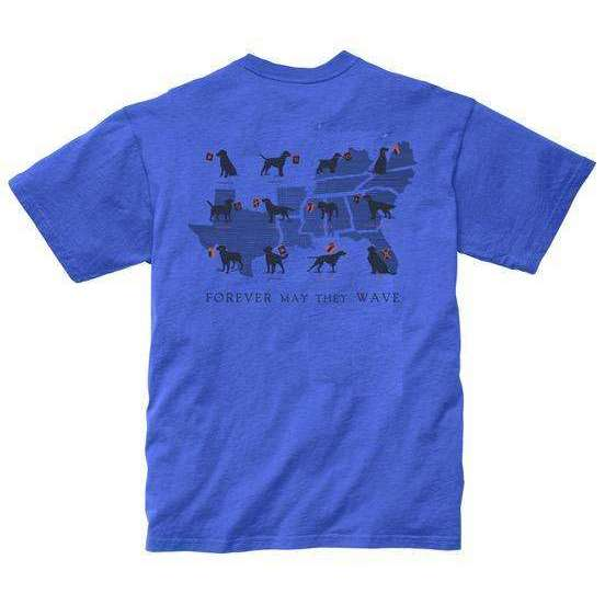 Southern Proper - Boys - Forever May They Wave Tee: River Blue