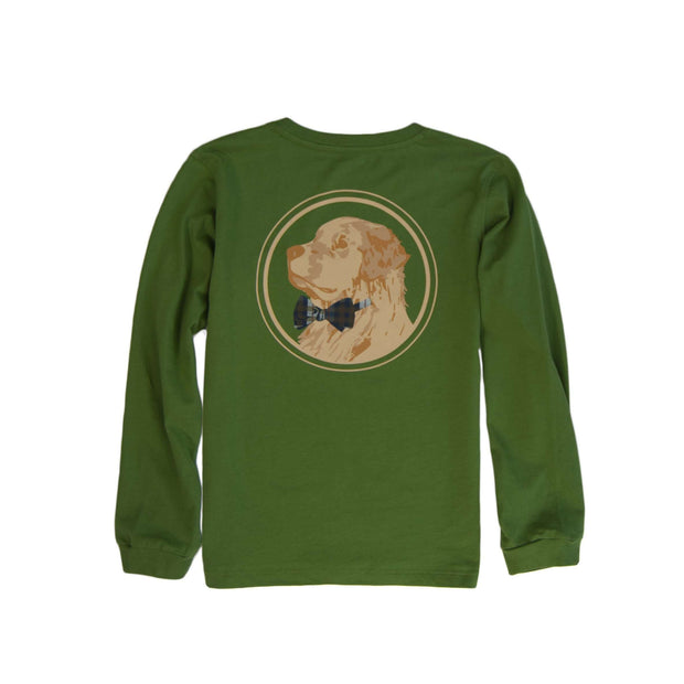 Southern Proper - Boys - Golden Logo Long Sleeve Tee: Kudzu