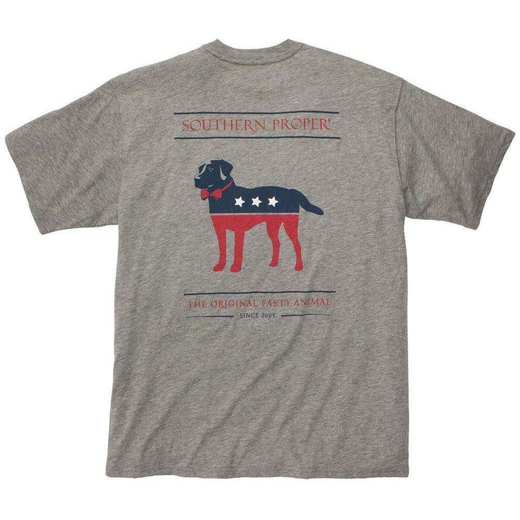 Southern Proper - Boys - Party Animal Tee: Heather Grey