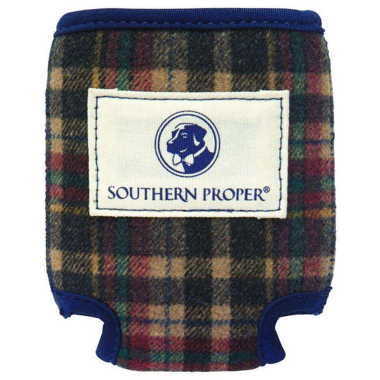 Southern Proper - Brown Plaid Coozie