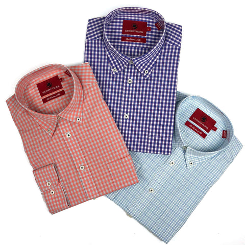 Southern Proper - Button Down Bundle: River Plaid, Bruno Plaid, Farley Plaid