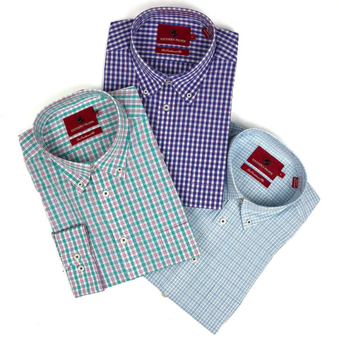 Southern Proper - Button Down Bundle: River Plaid, Moesley Plaid, Farley Plaid
