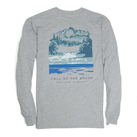 Southern Proper - Call Of The South Tee - Heather Grey