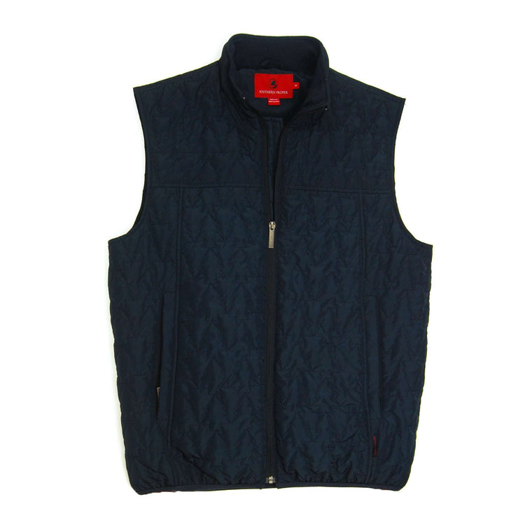 Southern Proper - Cashiers Quilted Vest - Blueberry