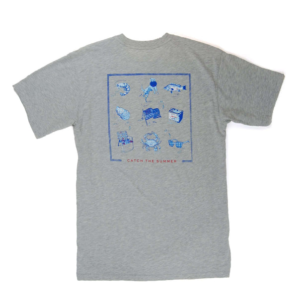 Southern Proper - Catch the Summer Tee: Heather Grey