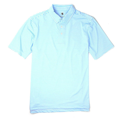 Southern Proper - Classic Performance Polo: Light Blue