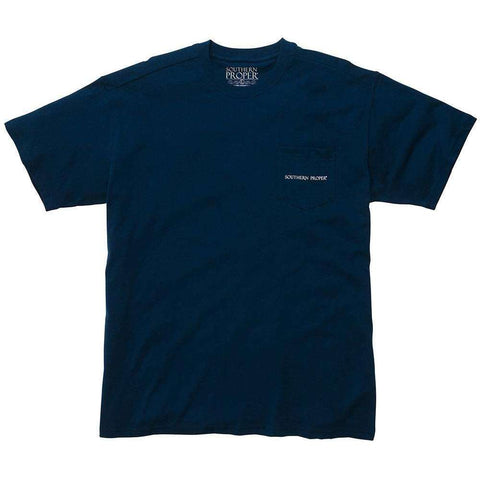Southern Proper - Cocktail Conversation Tee - Navy