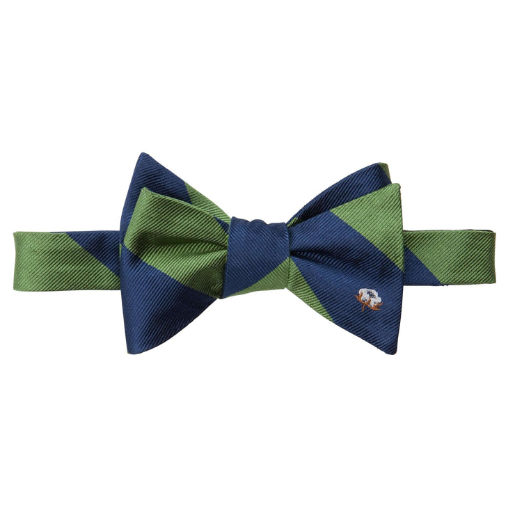 Southern Proper - Cotton Boll Bow: Green & Navy