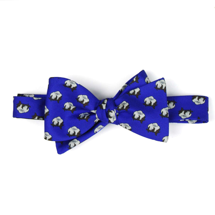Southern Proper - Cotton Boll Bow Tie: Navy