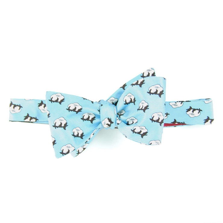Southern Proper - Cotton Boll Bowtie: Light Blue