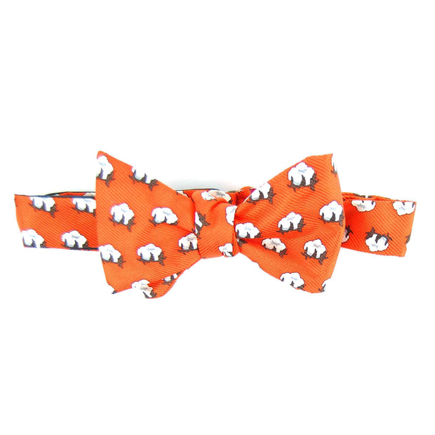 Southern Proper - Cotton Boll Bowtie: Orange