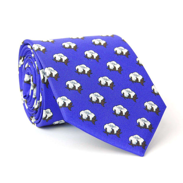 Southern Proper - Cotton Boll Tie: Navy