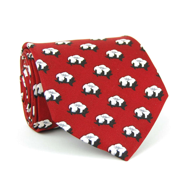Southern Proper - Cotton Boll Tie: Red