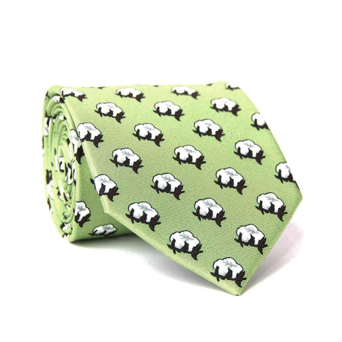 Southern Proper - Cotton Boll Tie: Sage Green