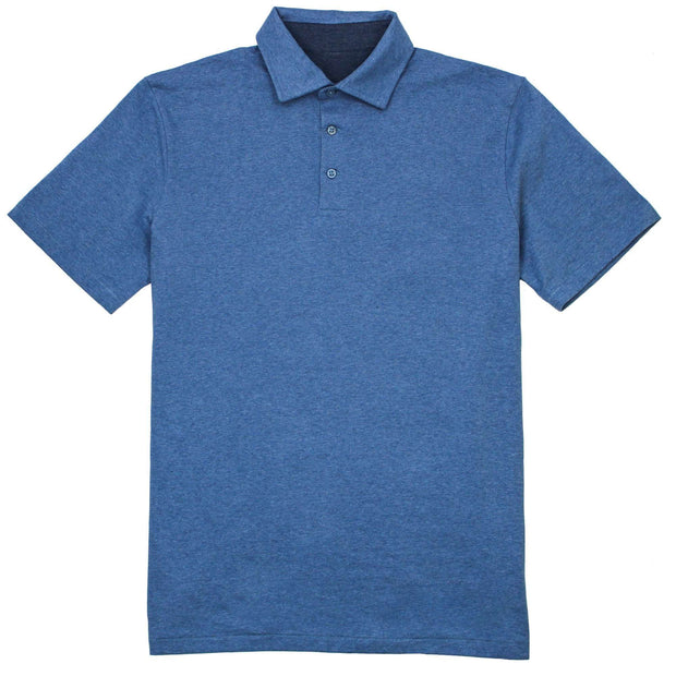 Southern Proper - Covington Polo: Heather Denim