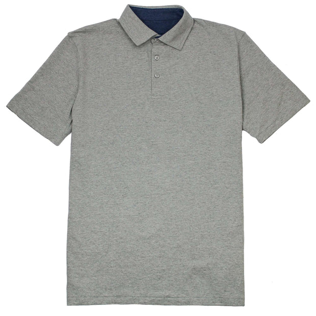 Southern Proper - Covington Polo: Heather Proper Grey