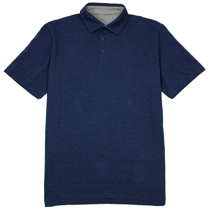 Southern Proper - Covington Polo: Heather Proper Navy