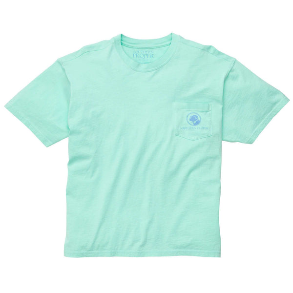 Southern Proper - Day Games Tee: Duck Egg