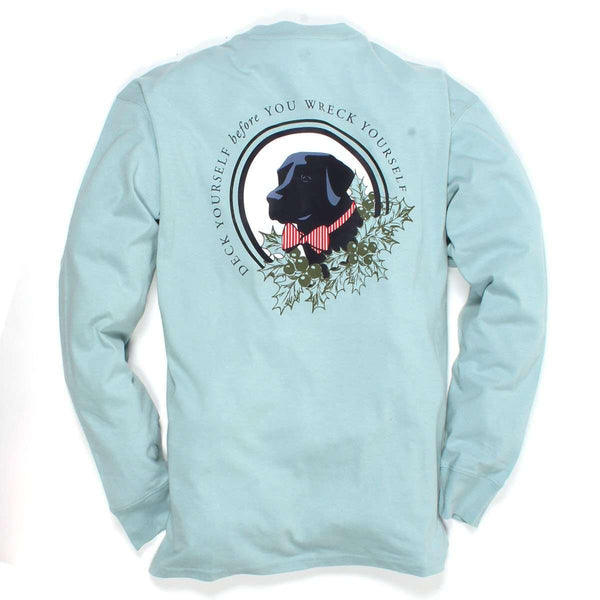 Southern Proper - Deck Yourself Tee: Shale Blue Long Sleeve
