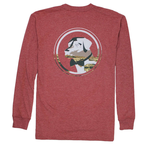 Southern Proper - Delta Lab Long Sleeve Tee: Heather Barn Red
