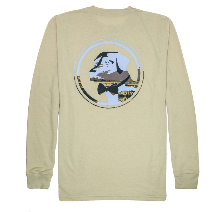 Southern Proper - Delta Lab Long Sleeve Tee: Heather Grits