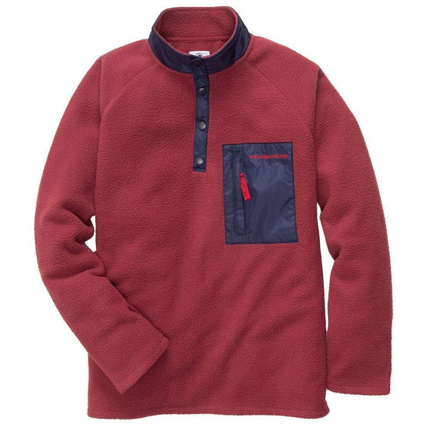Southern Proper - Dixon Pullover- Rust Red
