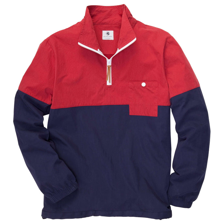 Southern Proper - Dock Pullover: Madras Red/Navy