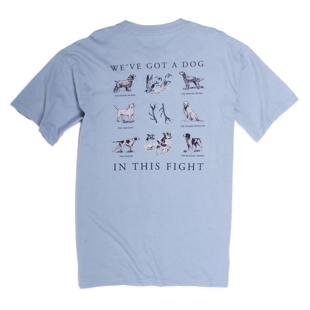Southern Proper - Dog in This Fight: Dust Blue Short Sleeve