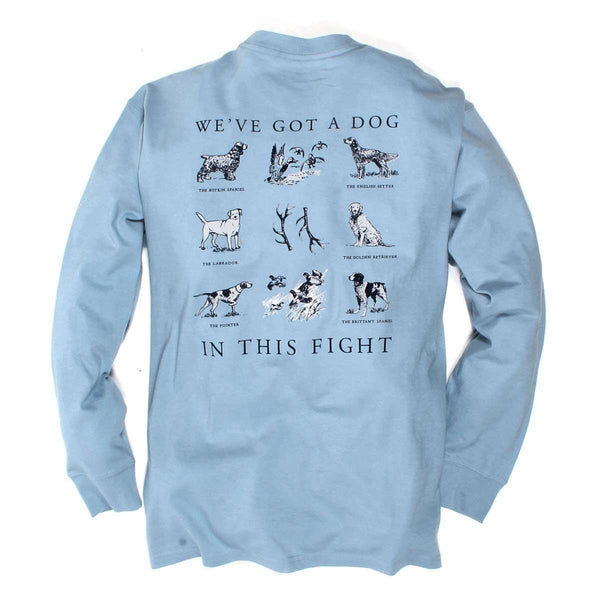 Southern Proper - Dog in this Fight Tee: Dust Blue Long Sleeve