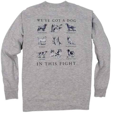 Southern Proper - Dog in this Fight Tee: Heather Grey Long Sleeve