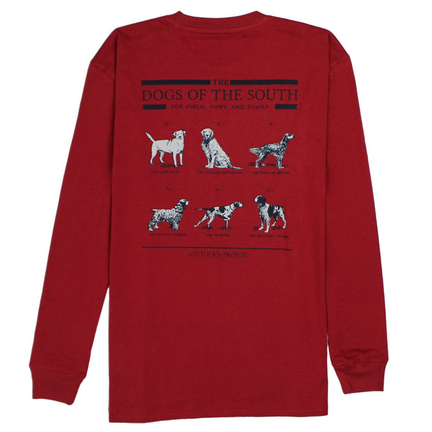 Southern Proper - Dogs Of The South Long Sleeve Tee: Barn Red