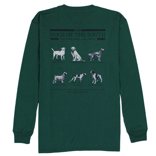 Southern Proper - Dogs Of The South Long Sleeve Tee: Moss