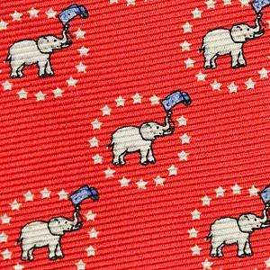 Southern Proper - Elephant with Stars Bow: Red
