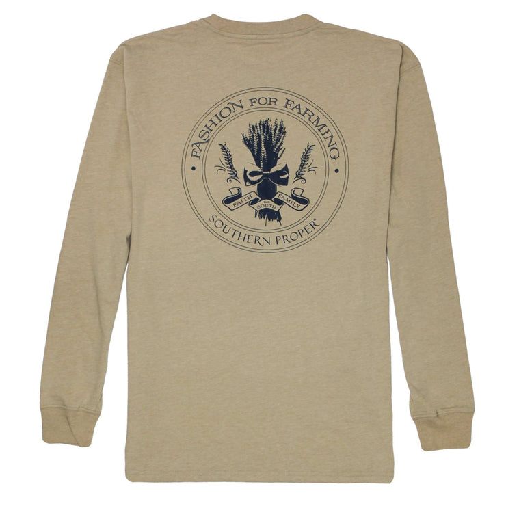 Southern Proper - Fashion For Farming Long Sleeve Tee: Heather Dove